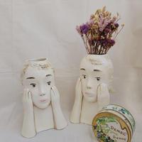 【桂さえか】編み込みの女性花器