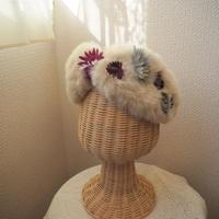 【Barairo no Boushi】花とファーヘアバンド