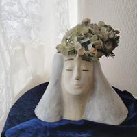 【桂さえか】女神さま花器・blue