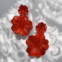 【lili by SERI】MY FLOWER PIERCE/RED
