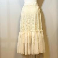 エレガントレースのスカート ホワイト
