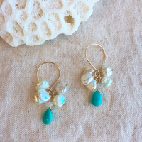 Turquoise& pearl
