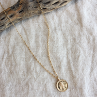 14kgf Miraculous Medal necklace