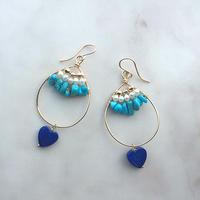 Heart lapis lazuli & turquoise
