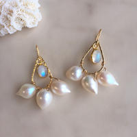 Pearl & rainbow moonstone