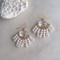 Crystal & pearl fringe