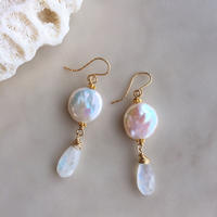 Rainbow moonstone & pearl