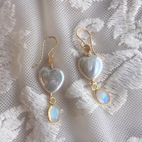 Pearl & rainbow moonstone