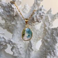 Water melon tourmaline necklace
