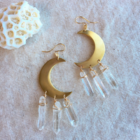 Crescent moon pierced