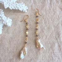 Pearl & smoky quartz