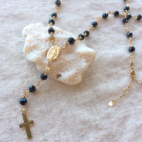 Black spinel rosary