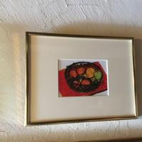 絵画  「卓上のフルーツ アイアンバスケット 」