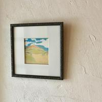 絵画  阿蘇の風景  「青い空のある風景」