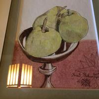 絵画 水彩フルーツ  洋梨  〜卓上の果物〜 Fruits on the table (原画) Original picture