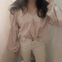 roman blouse / pink beige