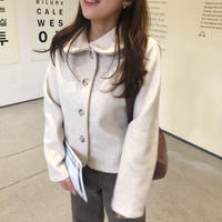 macaron JK coat  / ivory