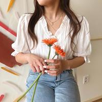 madeleine blouse/white
