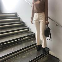 slim slacks  / ivory