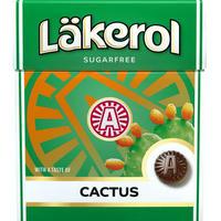 Cloetta Lakerol クロエッタ ラケロール サボテン味 1箱×25g スゥエーデンのハードグミです
