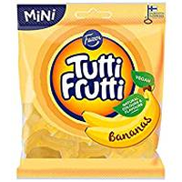 Fazer Tutti Fruttiトゥッティ フルッティ バナナ味 グミ 80g* 2 袋 フィンランドのお菓子です