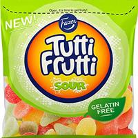 Fazer Tutti Fruttiトゥッティ フルッティ サワー ラズベリー レモン 洋梨味 グミ 180g* 10袋セット グルテンフリー フィンランドのお菓子です
