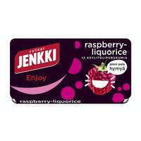 Cloetta Jenkki クロエッタ イェンキ ラズベリー リコリス味 ガム 8箱×18g フィンランドのお菓子です