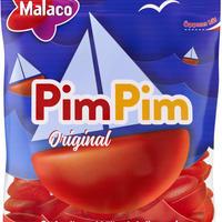 Malaco マラコ Pim Pim ピムピムラズベリー味グミ 4袋 x 80g スウェーデンのお菓子です