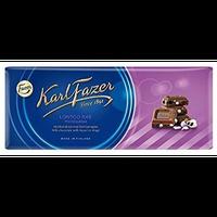 Karl Fazer カール ファッツエル ラクリッツ味 ミルクチョコレート 200g 10枚セット フィンランドのチョコレートです