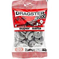 50g x 50袋 Dragster 3000ドラッグスター 3000 サルミアッキ 味 タイヤ型 ハードグミ スゥエーデンのお菓子です