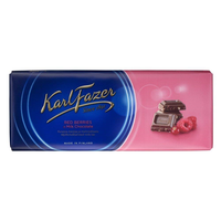 Karl Fazer ラズベリー&クランベリー味 チョコレート 200g 1枚 フィンランドのチョコレートです