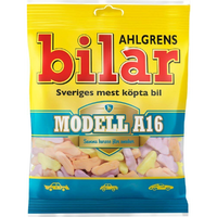 Bilar スゥエーデン 車型 ビーラル モデル A16 マシュマログミ 125g×1袋 スゥエーデンのお菓子です