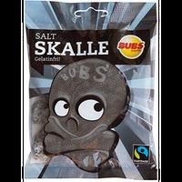 Bubs Godis Skalle スカッレ 骸骨 グミ 塩サルミアッキ味 90g×2袋セット スゥエーデンのお菓子です