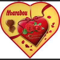 Marabou マラボウ ハート型 ミルクチョコレート ヌガー入り 180g × 1箱  スゥエーデンのチョコレートです