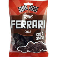 Toms FERRARI トムズ フェラーリ 車型 コーラ味 グミ デンマークのお菓子です 4袋×120g デンマークのお菓子です