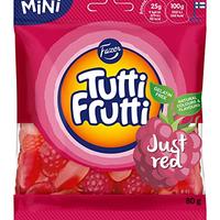 Fazer Tutti Fruttiトゥッティ フルッティ レッド ストロベリー ラズベリー味 グミ 80g* 14 袋セット フィンランドのお菓子です