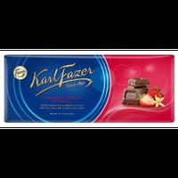 Karl Fazer ストロベリー バニラ味 ミルクチョコレート 190g * 1枚  フィンランドのチョコレートです