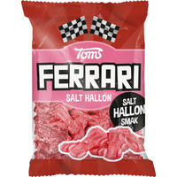 Toms FERRARI トムズ フェラーリ 車型 ラズベリー味 グミ デンマークのお菓子です 4袋×120g デンマークのお菓子です