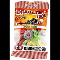 50g x 50袋 Dragster ドラッグスター 1500 フルーツミックス味 タイヤ型 ハードグミ スゥエーデンのお菓子です