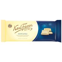 Karl Fazer カール・ファッツェル ミルク & ホワイトチョコレート 板チョコ 100g x 20枚セット フィンランドのチョコレートです