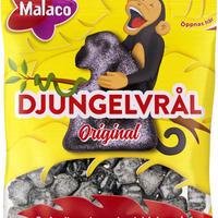 Malaco マラコ ジャングル塩味リコリス サルミアッキ 12袋 x 80g スウェーデンのお菓子です