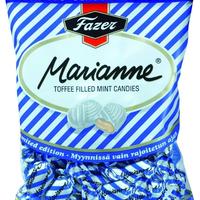 ファッツェル(Fazer) マリアンネ ミント キャラメル キャンディー 青 220g入り×7袋セット  フィンランドのお菓子です