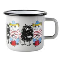 Muurla (ムールラ) ムーミン フレンズ ホーローマグカップ グレー 3,7DL