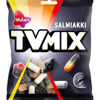 Malaco TV Mix テレビ ミックス サルミアッキ 4袋×280g 北欧のお菓子です