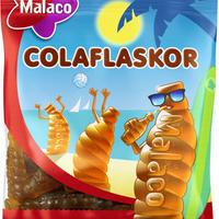 Malaco マラコ ColaFlaskor コーラボトル型コーラ味グミ4袋 x 80g スウェーデンのお菓子です