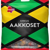 Malaco Aakkoset Sirkus マラコ アーコセット サーカス フルーツ&サルミアッキ グミ 15袋×315g 北欧のお菓子です