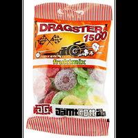 50g x 3袋 Dragster ドラッグスター 1500 フルーツミックス味 タイヤ型 ハードグミ スゥエーデンのお菓子です