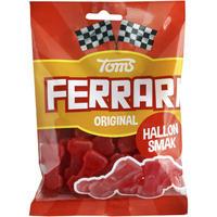 Toms FERRARI トムズ フェラーリ 車型 ラズベリー味 グミ デンマークのお菓子です 4袋×130g デンマークのお菓子です