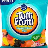 Fazer Tutti Fruttiトゥッティ フルッティ トロピカル アイランド グミ 350g*12袋セット グルテンフリー フィンランドのお菓子です