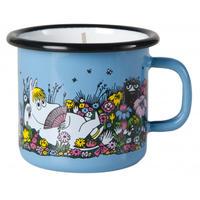 Muurla (ムールラ)  ムーミン ホーローカップ付き キャンドル 一緒の時間 ブルー 2,5DL